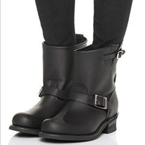 FRYE Veronica Engineer Moto 8R Black Boots Sz 9